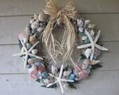 The Ocean's Calling Seashell Wreath