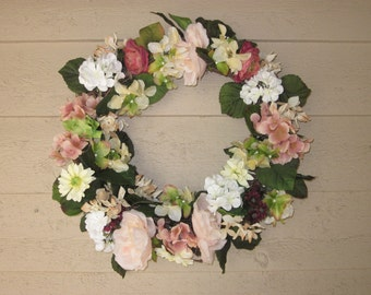 Grandmother's Dusty Pale Pink Wreath