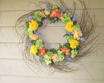 Yellow Summer Wisp Wreath