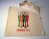 London Olympics 2012 Illustrated Canvas Bag