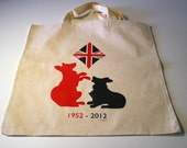 Queen Elizabeth's Diamond Jubilee Illustrated Canvas Bag