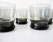 Eight Mid Century Smoked Glasses