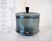 Mid Century Art Glass Lidded Canister