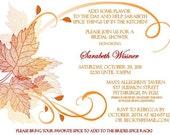 Fall Themed Bridal Shower Invitation