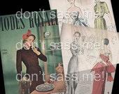 1940s Digital Download Vintage MODES ROYALE Pattern Catalog - 25 Pages Printable PDF