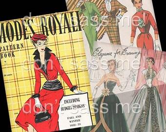 1950s Digital Download Vintage MODES ROYALE Pattern Catalog - 28 Pages Printable PDF