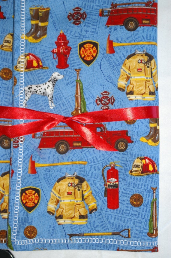 firefighter baby blanket extra large