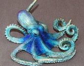 "WONDERFUL BRONZE OCTOPUS ""Oscar Octopus"" Figurine Statue Sculpture Aquatic Art / Limited Edition / Signed & Numbered"