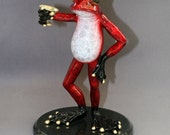 AWESOME BRONZE Martini Frog Figurine Statue Sculpture Art / Limited Edition / Signed & Numbered