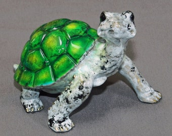 """Turtle Bronze """"Daden Large Turtle"""" Tortoise Figurine Statue Sculpture Art / Limited Edition / Signed & Numbered"""