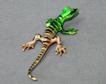 "Lizard Bronze Gecko Figurine Statue ""Rango"" Sculpture Art / Limited Edition / Signed & Numbered"
