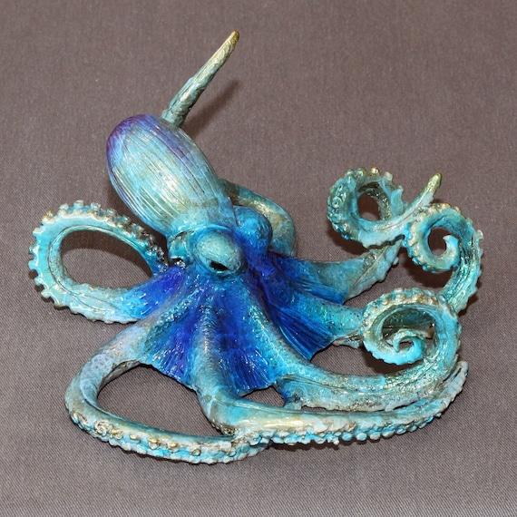 "WONDERFUL BRONZE OCTOPUS ""Oscar Octopus"" Figurine Statue Sculpture Aquatic Art / Limited Edition / Signed & Numbered"