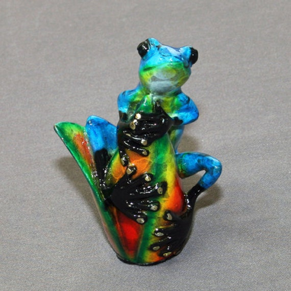 "GORGEOUS BRONZE ""SItting Pretty"" FROG Figurine Statue Sculpture Art  / Limited Edition / Signed & Numbered"
