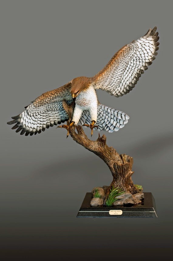 "Bronze ""RED-TAILED HAWK"" Sculpture by Barry Stein / Life Size Magnificent"