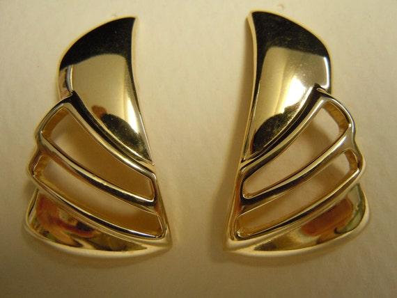 Open Wing Gold Earrings