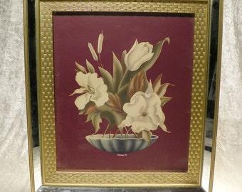 Turner Botanical Print in Original Mirrored Frame
