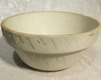"Rare Ruckel's Mixing Bowl Pottery Salt Glaze Stoneware 5"" Tall 10-1/2"" in Diameter"