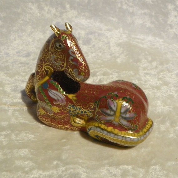Cloisonne Horse Figurine made in Beijing China