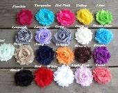 Shabby Chiffon Flower Clip hairbow