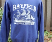 ON SALE 1980's Sweatshirt From Bayfield Wisconsin