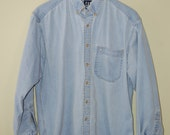 Early 90's Gap Denim Shirt Men's Size Medium