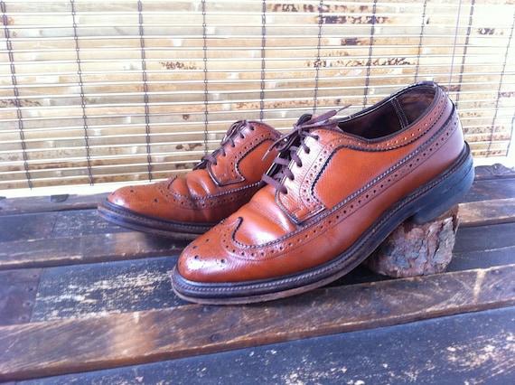 Wingtip Leather Shoes Men's Size 8 1/2