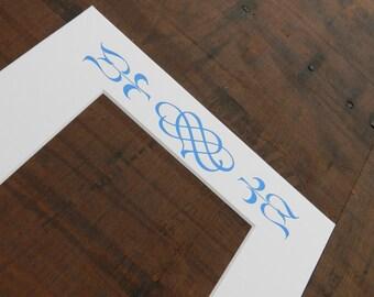 Letterpress Picture Frame Mat
