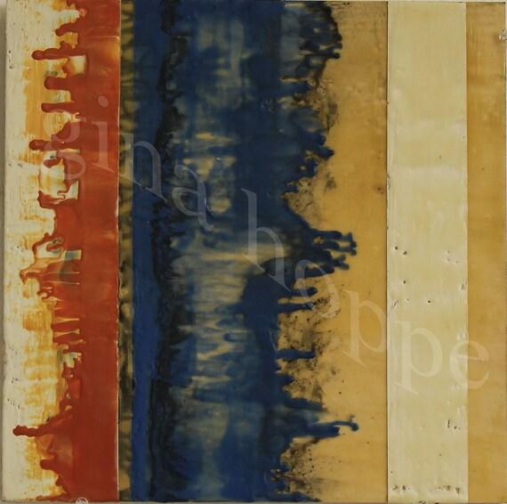 Original Abstract Encaustic Painting