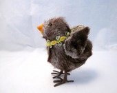 Easter Ugly duckling Baby Chick chicken ornament decoration  Shabby French Country Farmhouse chic