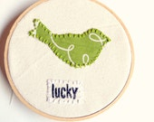 St Patricks Day Embroidery Hoop Art Lucky Bird Affirmation Art One of a Kind