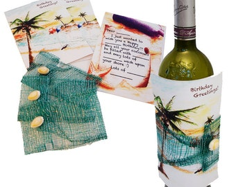 Wine Wrap Greeting Cards (Set of 3)