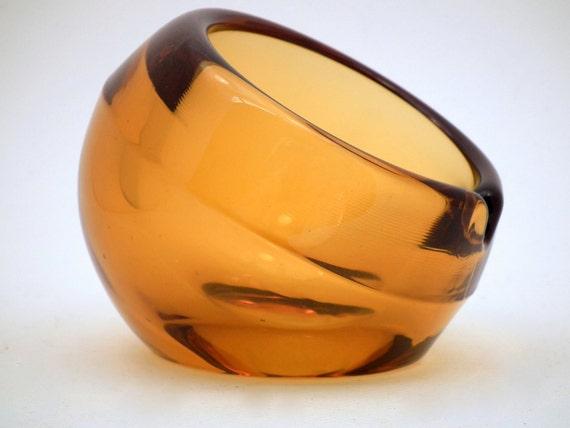 Vintage Ashtray Art Glass,  Art Deco,  Eames Era,  Mad Men