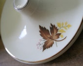 Reserved for Monica - Vintage Autumn Leaves SUGAR BOWL