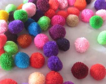 1,000-Yarn Pom Poms ,  beads, balls,flower, cotton, handmade, mobile, knit, button, sew, home decor, felt