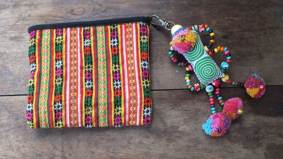 Ethnic Vintage  purses wallet bags-Handmade ethnic Bohemian purse , from-Thailand