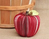 Gift for Teacher, Teacher Gifts, Upcycled Book Apple, Back to School, Fall Apple Decor, MADE TO ORDER