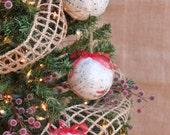 Decoupage Christmas Ornaments, Set of 3 w/Christmas Sheet Music, READY TO SHIP