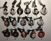 "K-Drama and KPOP 1"" Zipper Pulls with Korean Drama Queen Tag - Part 2 - Choose Any 4"