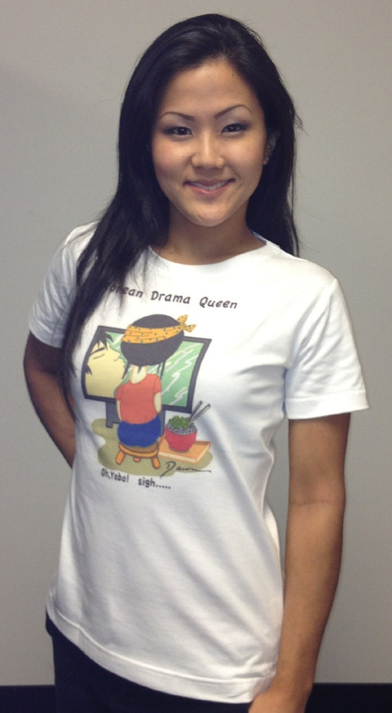 "Kaizu Hawaii ""Korean Drama Queen - Oh Yobo (Honey)"" Women's T-Shirt Made in Hawaii Small-XLarge"