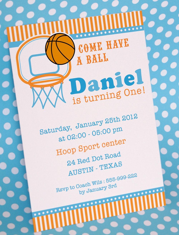 Basketball Party Invitation as good invitation layout