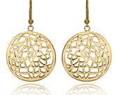 Large Golden Geometric Dangle Earring