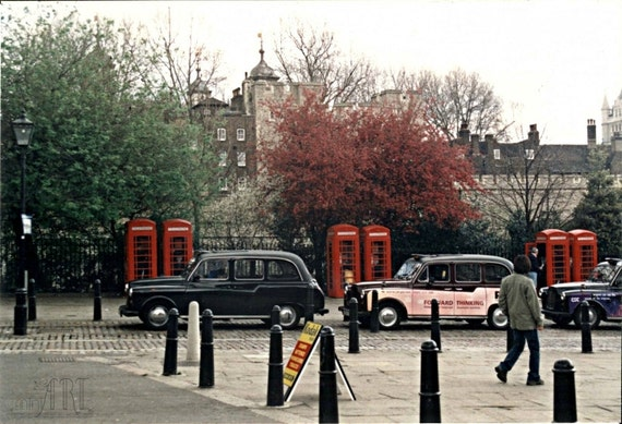 London print England Tower of London art spring decor red phone boxes and black cabs Europe photography romantic art 4x6 5x7 6x8 8x10 10x15