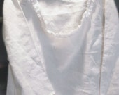 Custom Listing for SALLY  Cotton or Upgrade to Linen Tunic Top XS to XL  Womens Clothing White Cream Pink Shabby Chic Custom Order Garden