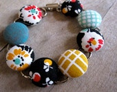 20's Reprint Covered Button Bracelet