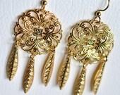 Medallion Filigree Dream Catcher  Earrings