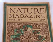 Antique Nature Magazine November 1925 Issue Art Deco