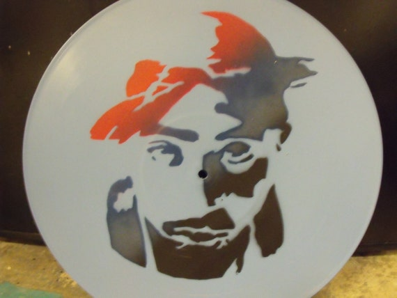 Items Similar To Tupac Stencil Record On Etsy