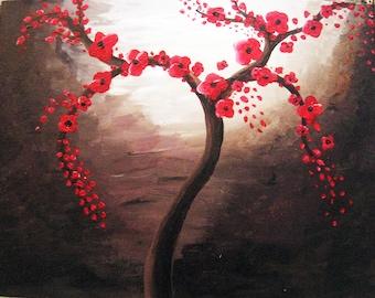 Blossom Tree Painting- original acrylic painting