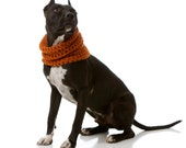 MED / LRG Rowdy Dog Cowl, Scarf, Neck Warmer- Available in Over 30 Colors- Shown in Rust