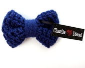 The Small Pretty Bow: Doggie Bow Tie (shown in Colonial Blue) Available in over 30 Colors